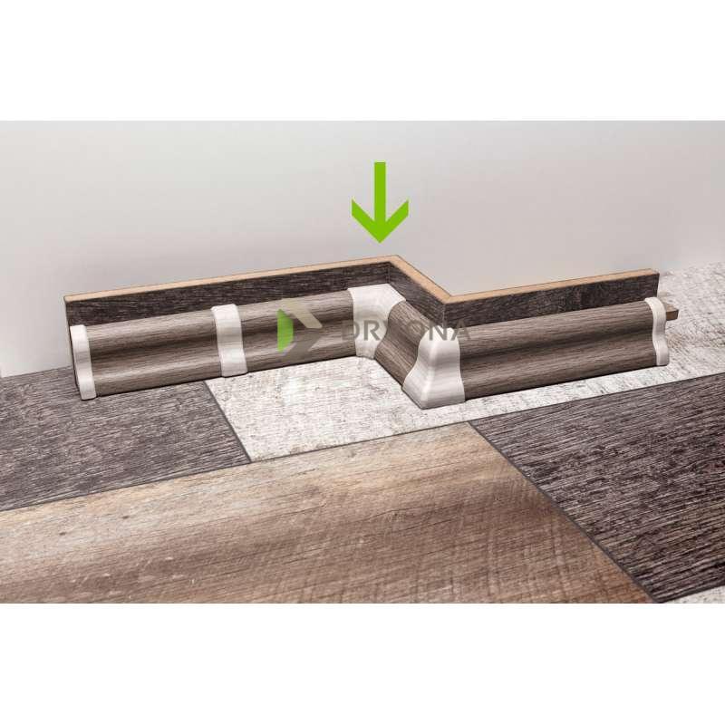 PVC KUT UNUTARNJI ZA LETVICU  P27 HRAST(DAB-10)