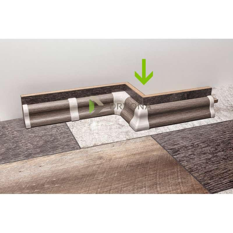 PVC KUT VANJSKI ZA LETVICE FOEI MERBAU / ORAH STMA80 708531
