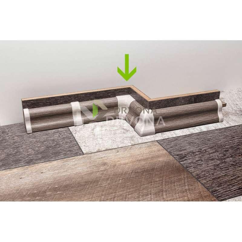 PVC KUT UNUTARNJI ZA LETVICU P151 HRAST